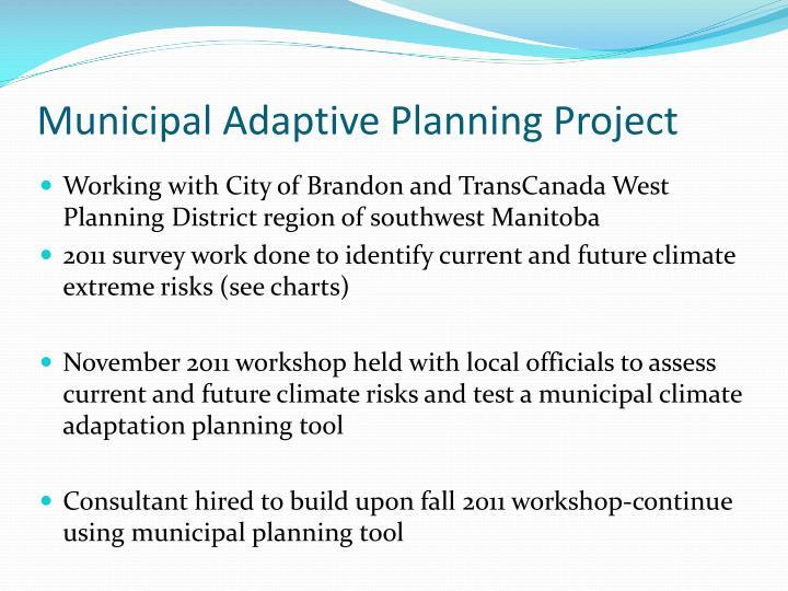 Municipal Adaptive Planning Project