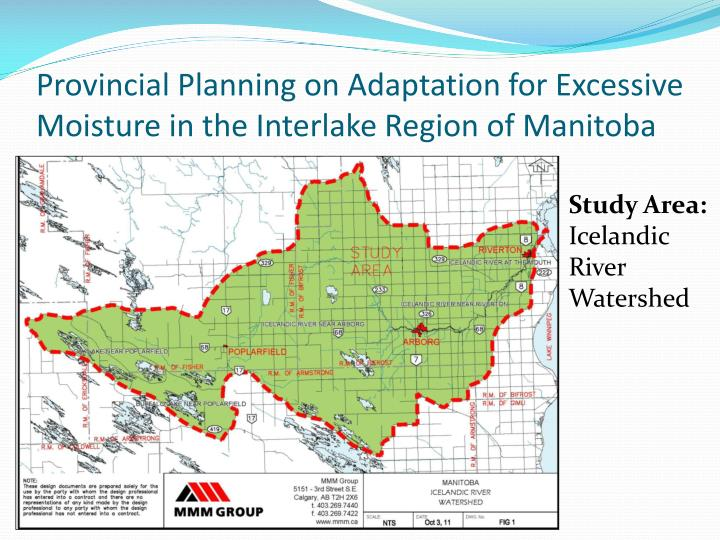 Provincial Planning on Adaptation for Excessive Moisture in the Interlake Region of Manitoba