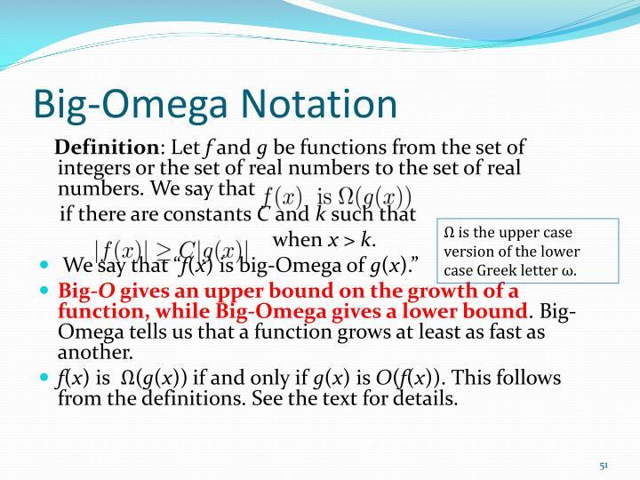 Big-Omega Notation
