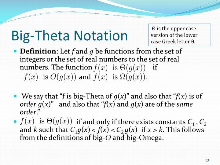 Big-Theta Notation