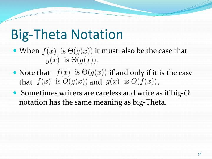 Big-Theta Notation