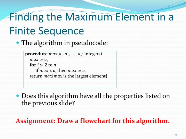 Finding the Maximum Element in a Finite Sequence
