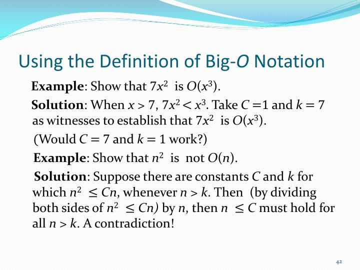 Using the Definition of Big-