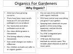 organics for gardeners
