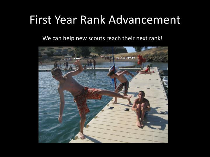 First Year Rank Advancement