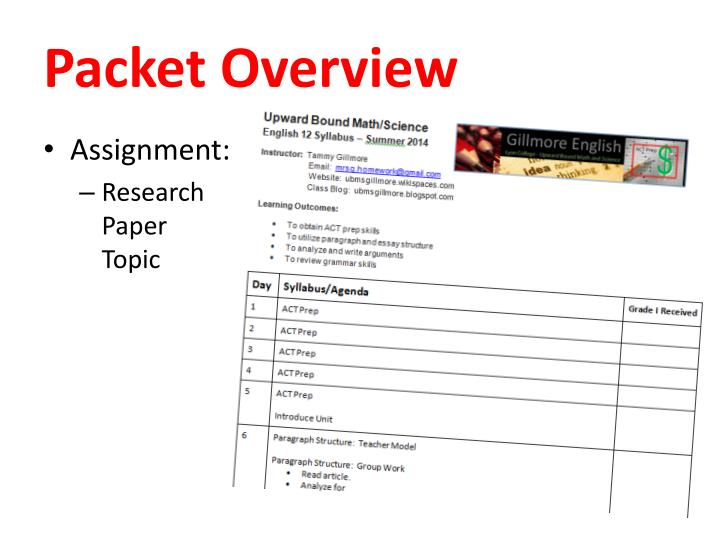 Packet Overview