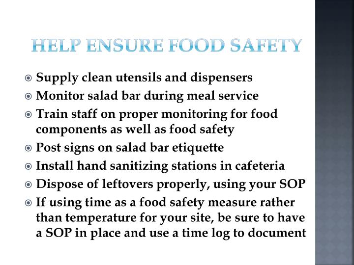 Help Ensure Food Safety
