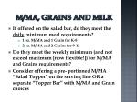 m ma grains and milk