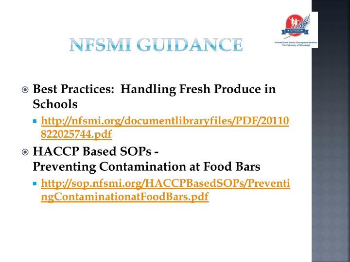 NFSMI Guidance