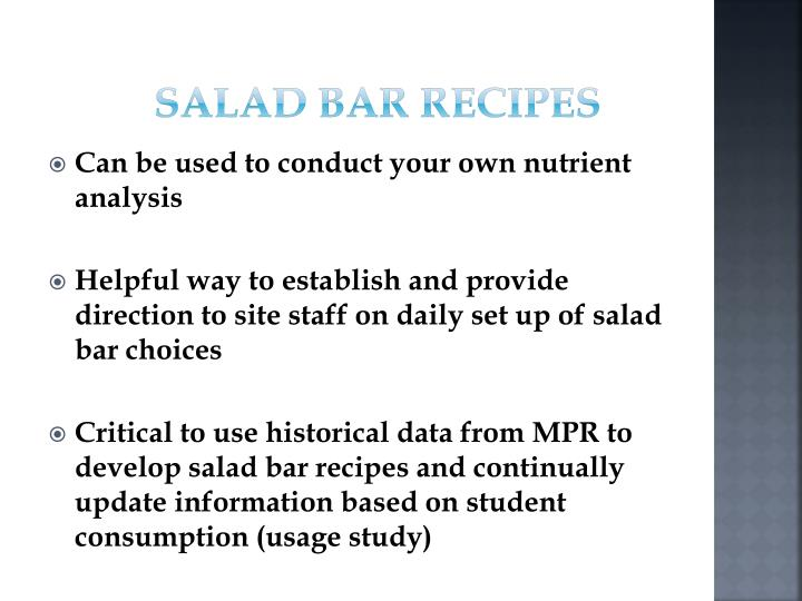 Salad Bar Recipes