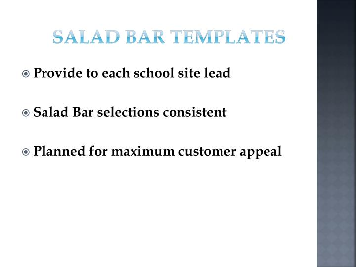 Salad Bar Templates