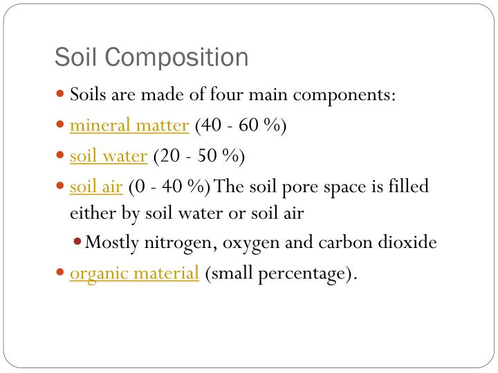 Ppt forensics of soil powerpoint presentation id 1561281 for Soil composition definition