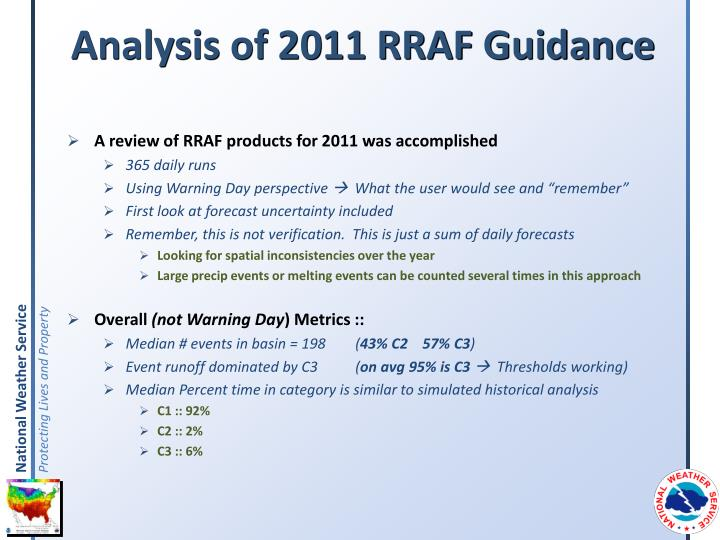 Analysis of 2011 RRAF Guidance