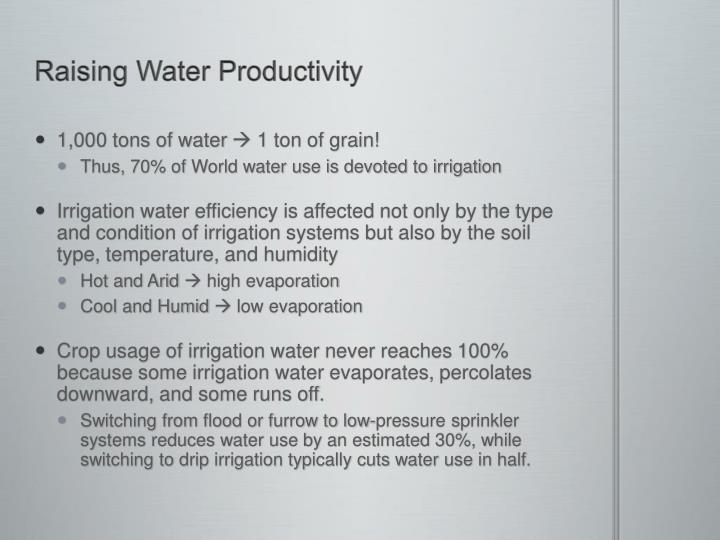 Raising Water Productivity