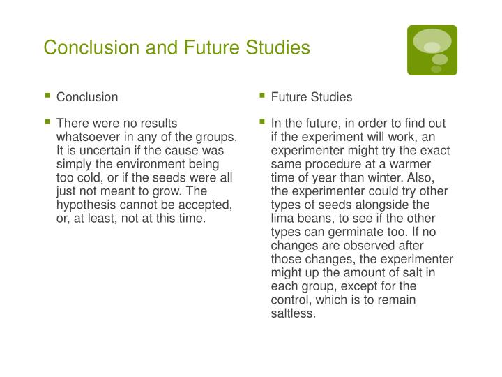 Conclusion and Future Studies
