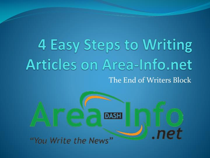 steps writing article