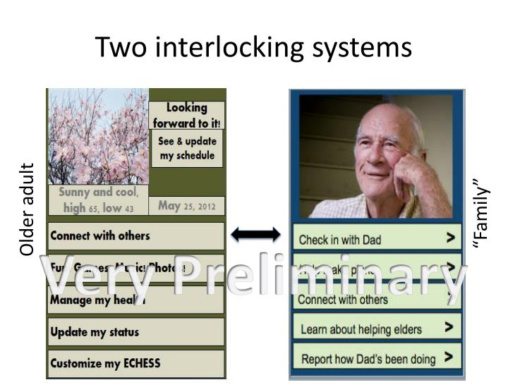 Two interlocking systems