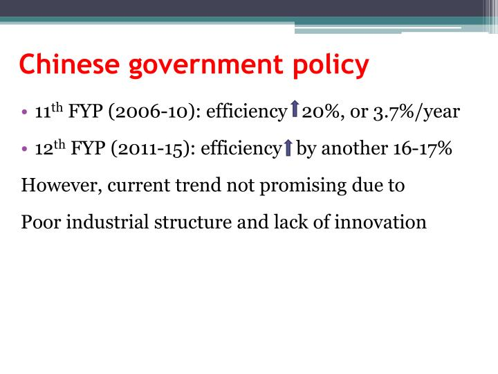 Chinese government policy