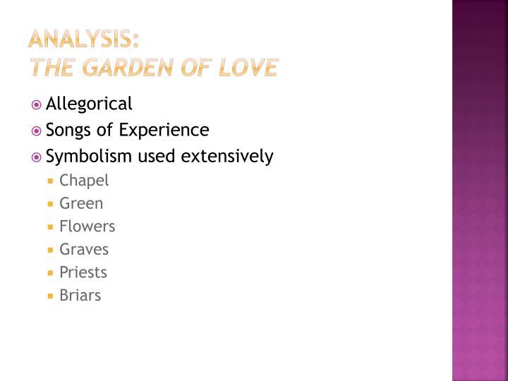 analysis of poem the garden of love