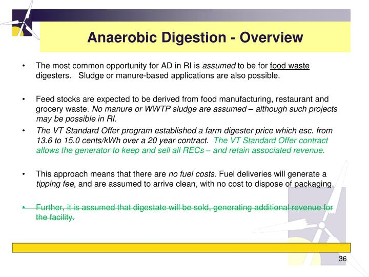 Anaerobic Digestion - Overview