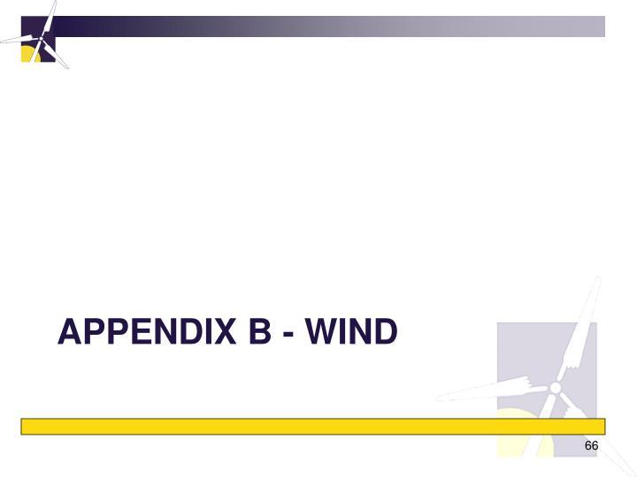 Appendix B - wind