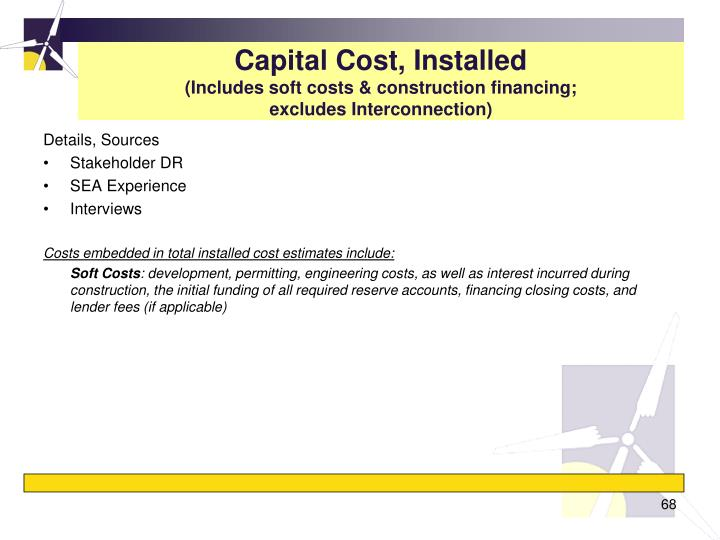 Capital Cost, Installed