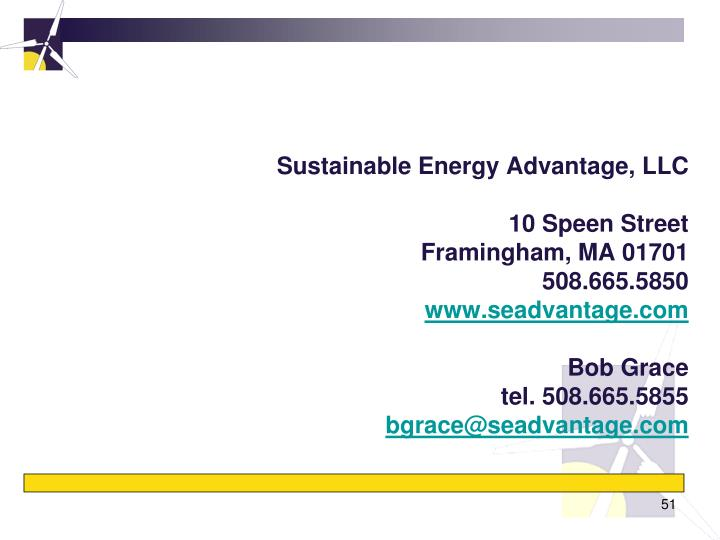 Sustainable Energy Advantage, LLC