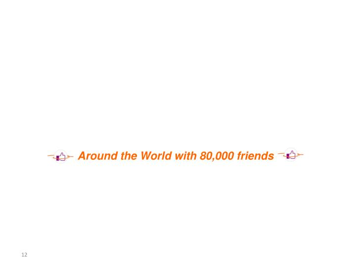 Around the World with 80,000 friends