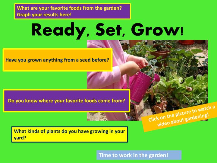 What are your favorite foods from the garden?