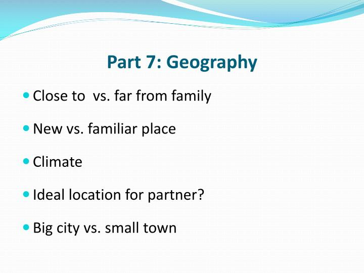 Part 7: Geography