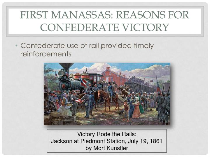 First Manassas: Reasons for Confederate Victory