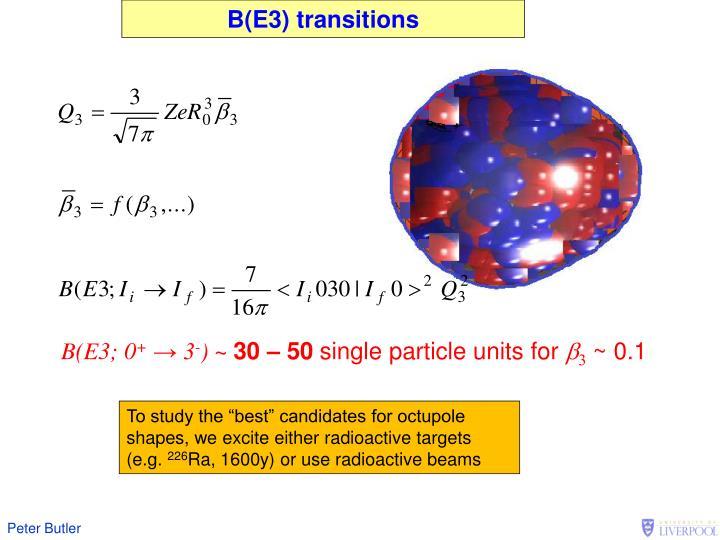 B(E3) transitions