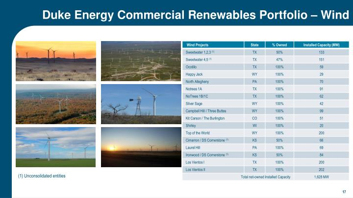 Duke Energy Commercial Renewables Portfolio – Wind