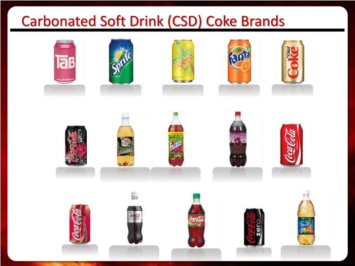 Carbonated Soft Drink (CSD) Coke Brands