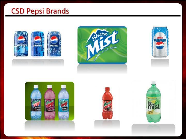 CSD Pepsi Brands