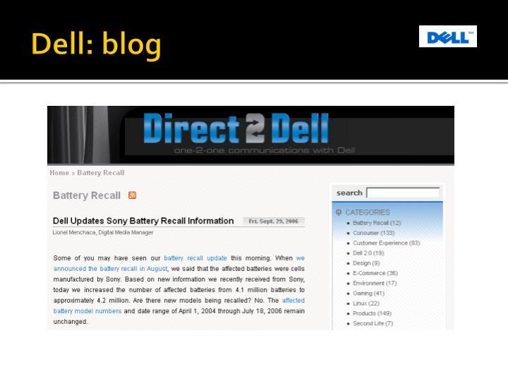 Dell: blog