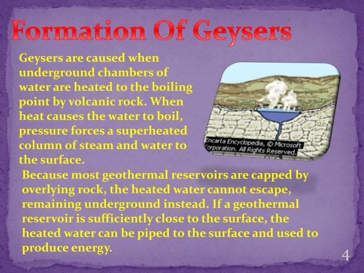 Formation Of Geysers