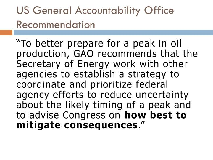 US General Accountability Office