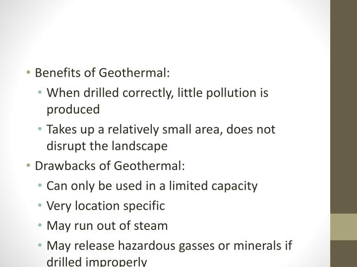 Benefits of Geothermal: