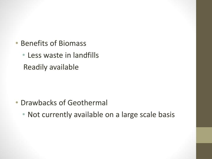 Benefits of Biomass