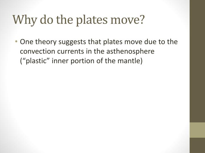Why do the plates move?