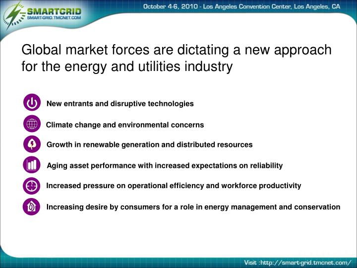 Global market forces are dictating a new approach for the energy and utilities industry