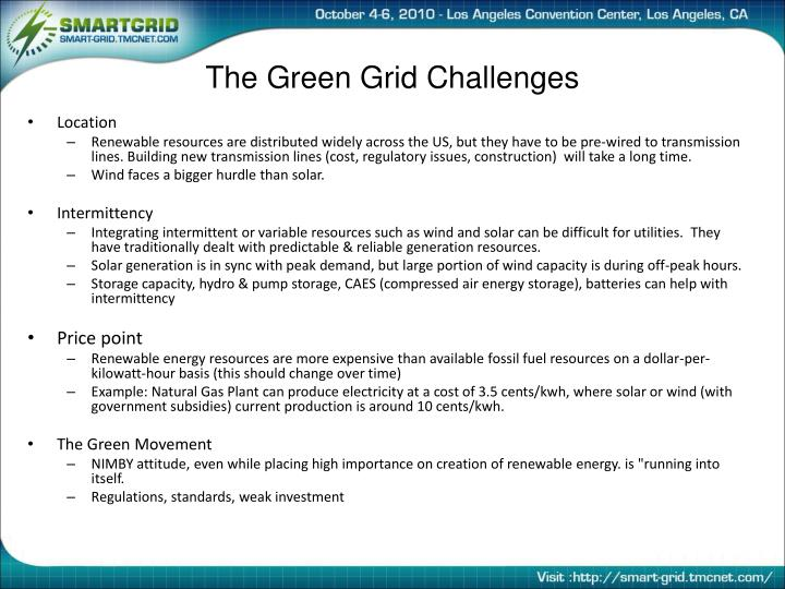The Green Grid Challenges