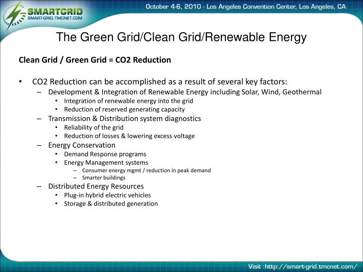 The Green Grid/Clean Grid/Renewable Energy