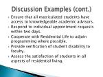 discussion examples cont