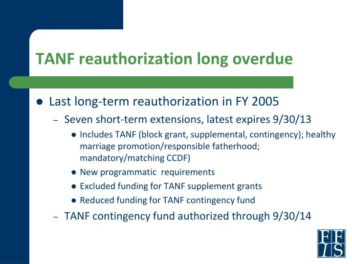 TANF reauthorization long overdue