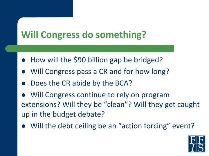 Will Congress