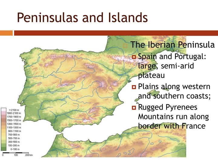 Peninsulas and Islands