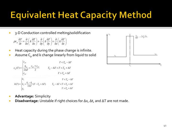 Equivalent Heat Capacity Method