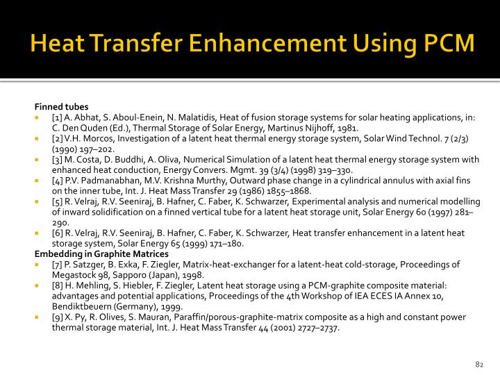 Heat Transfer Enhancement Using PCM
